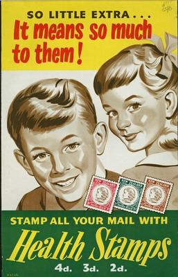 So Little Extra ... It Means So Much to Them. Stamp all your mail with Health Stamps [poster]