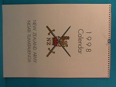 Calendar - 1998 New Zealand Army; 1997; TM.1998.33