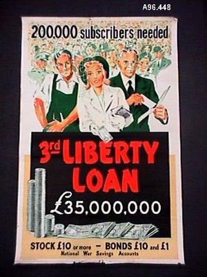 200,000 subscribers needed: 3rd Liberty Loan [poster]