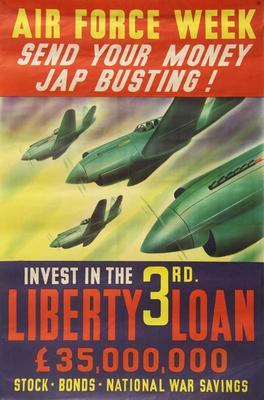 Air Force Week: send your money Jap busting [poster]