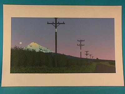 """Sunset, Moonrise Kaihihi Rd"""