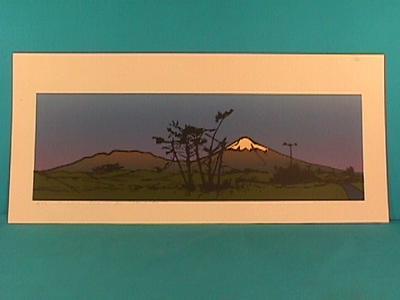 """""""Sunset on Taranaki from Stent Rd"""""""