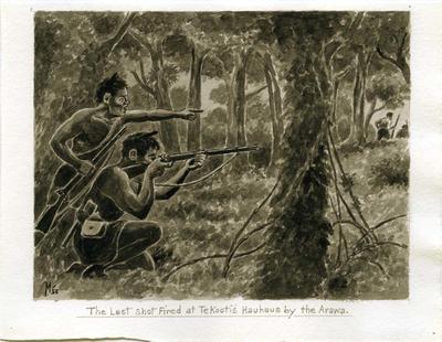 """The last shot fired at Te Kooti's Hauhaus by the Arawa."""