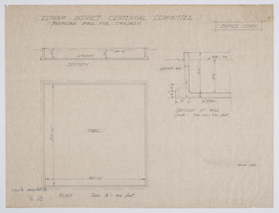Eltham District Centennial Committee Proposed Pool for Children [plans]