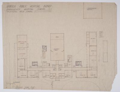 Hawera Public Hospital Board Emergency Hospital Scheme [plans]; 1941; ARC2004-642