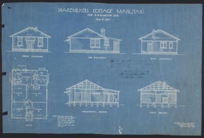 Sharemilkers Cottage Manutahi for R.B. Hamilton Esq. [plan]