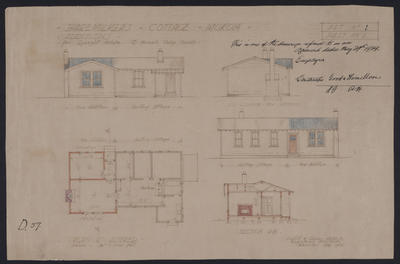 Sharemilkers Cottage Mokoia Additions for Lysaght Estate c/- Farmer's Co-op. Society [plan]