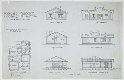 Proposed Residence Morrissey St. Hawera for W. Morrissey Esq. [plan]