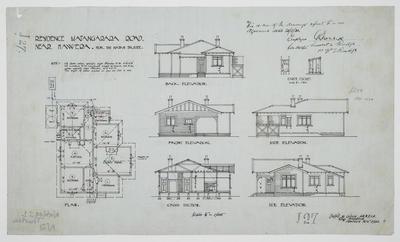 Residence Matangarara Road Near Hawera for the Native Trustee [plan]