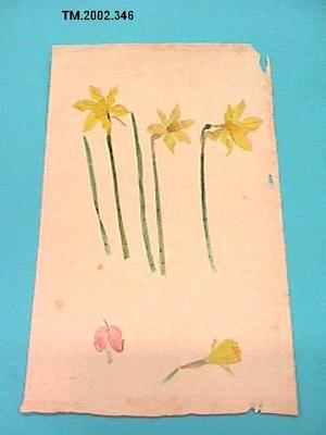 Untitled (Daffodil and pink flower)