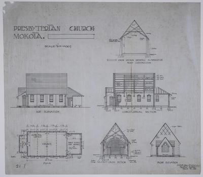 Presbyterian Church Mokoia [plans]