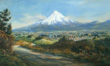 """Township of Inglewood Taranaki NZ from Lincoln Road"""