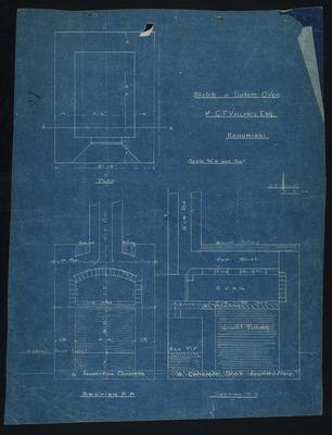 Sketch of Baker's Oven for C.F. Vallance Esq. Kahumingi [plan]