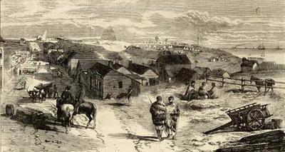 """New Zealand: Encampment on Mount Eliot, New Plymouth"""
