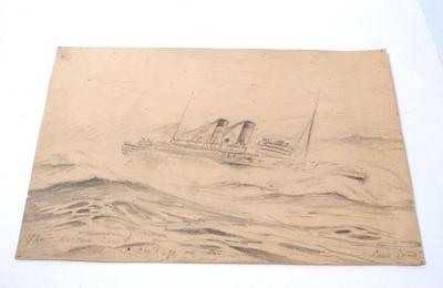"""""""The Rotten Cow! She'll go one day. Cook Strait"""""""