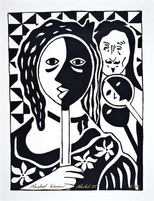 """""""Masked Woman""""; 1985; PA2008.051"""