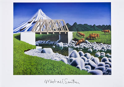 Limited edition boxed set of eight colour reproductions of Michael Smither paintings