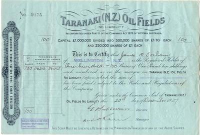 Taranaki (NZ) Oil Fields