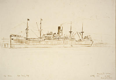 """S.S. Devon.  Cadet Training Ship""; 20 May 1929; PA2008.098"