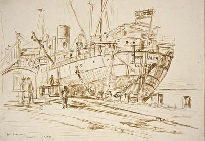 """MV. Port Alma, Moturoa""; 12 Aug 1929; PA2008.099"