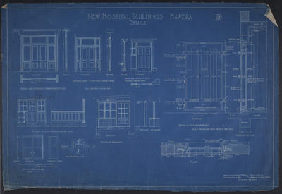 Hawera Hospital [plans]; 1916-1953; ARC2004-823