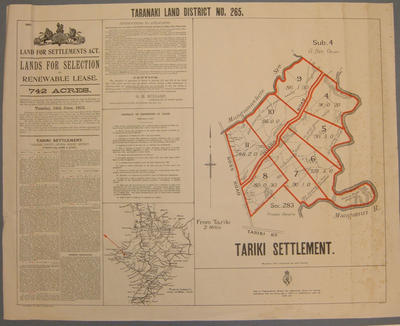 Tariki Settlement [map]