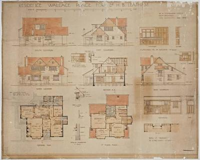 Residence. Wallace Place for Dr. H B Leatham; Aug 1924; ARC2008-167