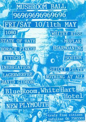 Mushroom Ball, Fri/Sat 10/11th May...Blue Room, White Hart Hotel, New Plymouth [poster]