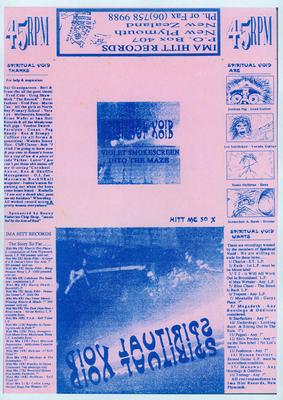 'Spiritual Void' release Violet Smokescreen onto the Maize' at IMA HITT Records [poster]