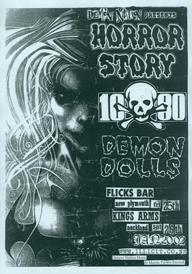 'Demon Nation' presents 'Horror Story', '1080' and 'Demon Dolls' at Flicks Bar New Plymouth [poster]