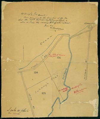 Sketch of Johnny's Flat, Katikara Stream [map]; ARC2009-48