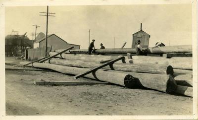 """Preparing Piles for N.K. Wharf"""