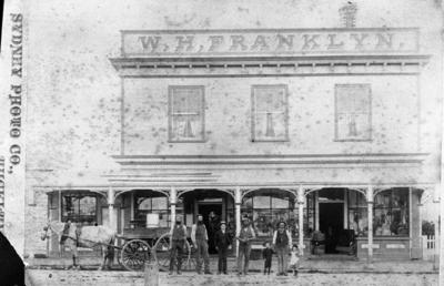 W. H. Franklyn's store, Matai Street, Inglewood