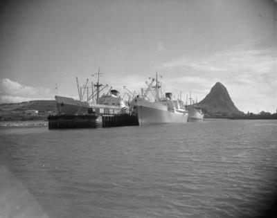 The ships Port Nelson and Port Auckland berthed at  New Plymouth Harbour
