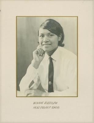 Winnie Rudolph, Head Prefect 1968