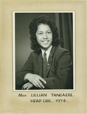 Lillian Tangaere, Head Prefect 1974