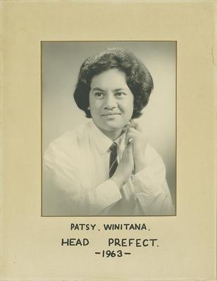 Patsy Winitana, Head Prefect 1963