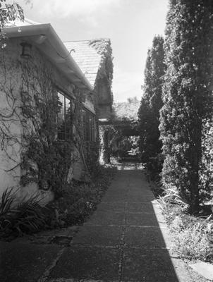 Pergola walk, 'Plas Mawr', New Plymouth; Oct 1938; PHO2010-0413