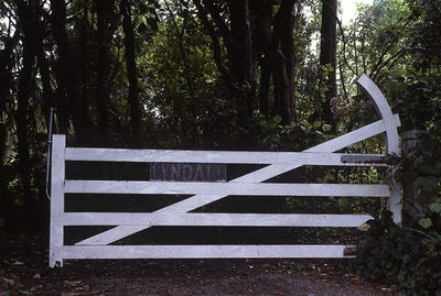 Gates to 'Lyndale', Carrington Road, New Plymouth