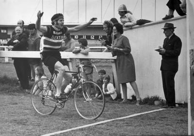 Winner of the Round the Mountain Cycle Race