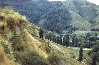 Tarata pā, view from, Waitotara Valley; PHO2011-0158