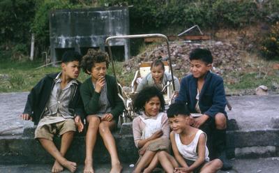 Komene Children, Parihaka; 1966; PHO2011-0302
