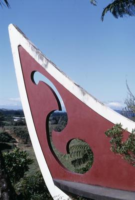 Okoki pā, Sir Peter Buck memorial, Wai-iti; Jan 1971; PHO2011-0460