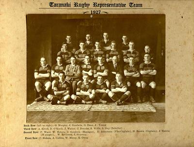 Taranaki Rugby Representative Team 1927