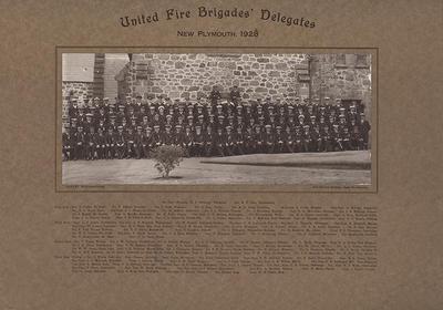 """United Fire Brigades' Delegates New Plymouth, 1928"""