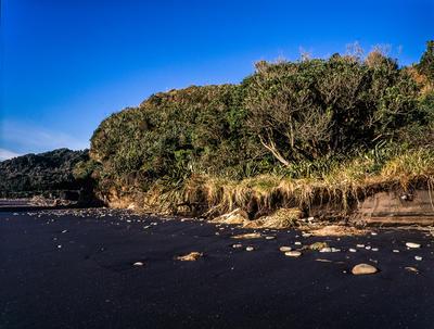 Tongaporutu Coastline - Three Sisters Beach, 3 July 2011