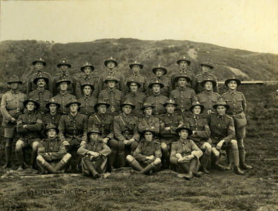 """""""Officers and NCOs H COY 27th RFTS""""; 22 Jun 1917; PHO2013-0134"""