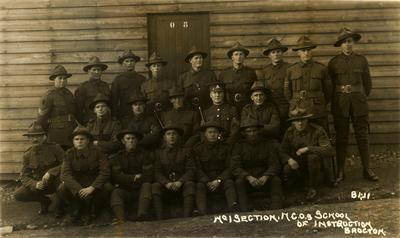 """No. 1 Section N.C.O.S School of Instruction Brocton.""; 19 Nov 1917; PHO2013-0142"