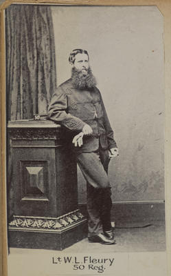 """Lt. W.L. Fleury 50 Reg.""; Circa 1900; PHO2014-0114"