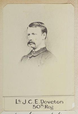 """Lt. J.C.E. Doveton 50th Reg. Severely wounded Rangiaohia Feb 22nd 1864.""; Circa 1900; PHO2014-0117"
